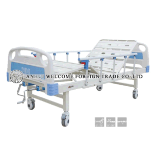 ABS ICU Electric Hospital Bed with Overbed Table pictures & photos