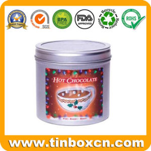 Round Metal Food Can for Chocolate, Cookie Tin Can pictures & photos
