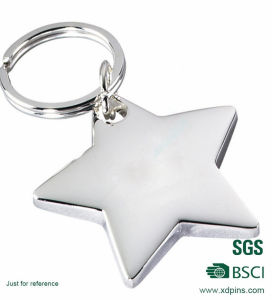 Custom Star Blank Metal Keychain pictures & photos