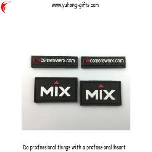 Black Color Rubber Soft PVC Patch for Garment (YH-RL042) pictures & photos