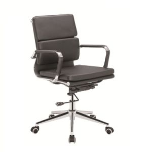 Steel Frame Chair/Low Back Soft Padding Chair /Office Chair with Ergonomic Design pictures & photos