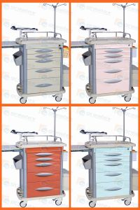 ABS Hospital Cart Medical Emergency Trolley Nursing Cabinet pictures & photos