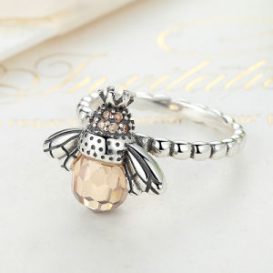 100% Authentic 925 Sterling Silver Orange Wing Animal Bee Women Finger Ring pictures & photos