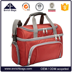 Custom Double Layer PVC Free Travel Picnic Insulated Cooler Bags pictures & photos