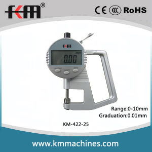 0-10mm Digital Thickness Gauge with 0.01mm Graduation and 15mm Throat Depth pictures & photos