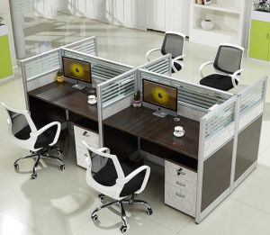 Fashion Office Furniture 4 Person Seats Office Partition (HX-NCD375) pictures & photos