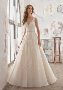 2017 A-Line Crystal Bridal Wedding Dresses Wd510 pictures & photos