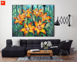 Realist Flowers Oil Painting on Cotton Canvas pictures & photos