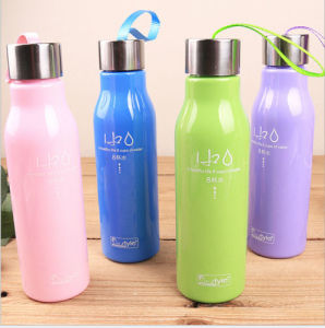 Plastic Water Bottle Plastic Mug 450ml Portable Camping Cycling Drink Bottle pictures & photos