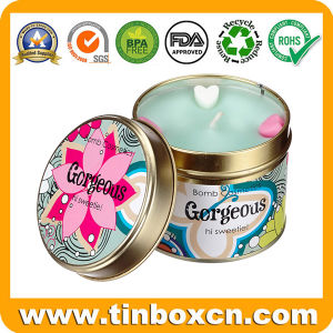 Metal Candle Tin Case for Travel, Round Tin Container pictures & photos