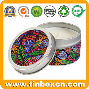Round Everyday Tin Can, Gift Box, Metal Tin Candle Can pictures & photos