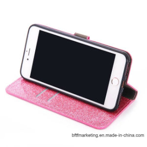 Glitter PU Leather Wallet Mobile Cell Phone Case for iPhone 8/8plus7/7plus/6s/6splus pictures & photos
