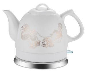 Electric Ceramic Kettle 360 Degree Cordless Stainless Steel Decorate with LED Light pictures & photos