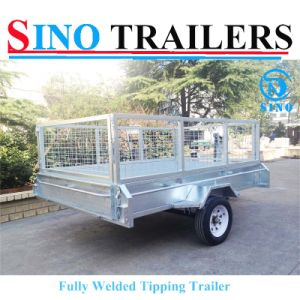 8 X 5 Fully Welded Tipping Trailer pictures & photos