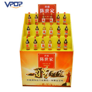 Easy Assembly Cardboard Retail Vinegar Food Dump Bin Display for Supermarket