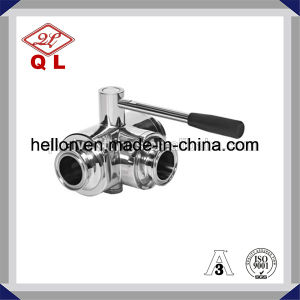 3A Sanitary Stainless Steel Threaded Butterfly Type Ball Valve pictures & photos