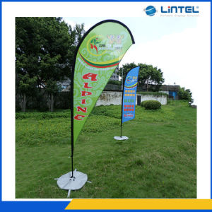 High Quality Aluminum and Glasspole Tear Drop Flag Pole pictures & photos