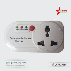 by-2188 250V Voltage Protector with Universal Socket for Home Use