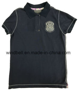 Plain Cotton Polo Shirt for Silver Threads Embroidery pictures & photos