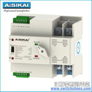 Askq1-20A 2poles Mirco Transfer Switch Used in House and Generator for CE/CCC/ISO9001 Certification pictures & photos