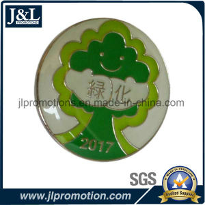 High Quality Soft Enamel Lapel Pin in Shiny Nickel Plating pictures & photos