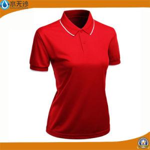 Custom Ladies Polo Shirts Cotton Stretch Plain T-Shirts pictures & photos