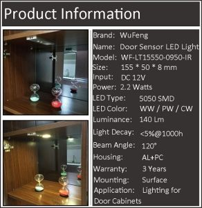 Door Sensor LED Cabinet Light pictures & photos