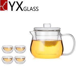 Hot Sale Borosilicate Glassware Heat Resistant Glass Teapot Kettle 500ml pictures & photos