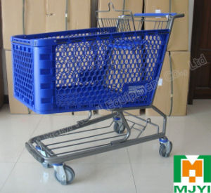 Plastic Convenient Retail Store Supermarket Shopping Trolley pictures & photos