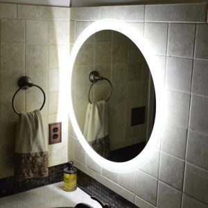 Bathroom LED Lighted Round Wall Mirror with Demister Pad pictures & photos