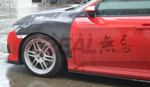 Carbon Front Wheel Fender for Honda Civic X 10th pictures & photos