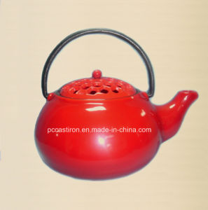 Enamel Cast Iron Tea Kettle Manufacturer From China pictures & photos