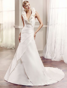 New Arrival Spaghetti Strap Lace Bridal Gown A-Line Wedding Dresses pictures & photos