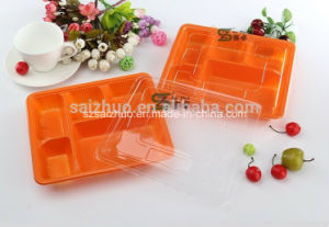 1200ml 5 Compartment Disposable Microwave Lunch Box pictures & photos
