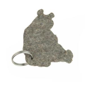 Gray Animal Shape Wool Felt Keychain pictures & photos