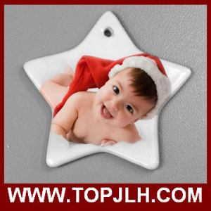 2016 Hot Selling 3 Inch Ceramic Christmas Ornament Sublimation pictures & photos
