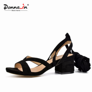2017 Lady Casual Lace-up Chunky Heels Women Sandals (CIF DDP) pictures & photos