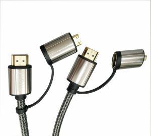 HDMI Cable, HDMI Male+ Mini HDMI Male to HDMI Male+ Micro HDMI Male Cable
