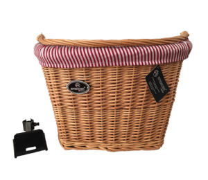 Good Design Willow Bike Basket with Handle (HBG-148) pictures & photos