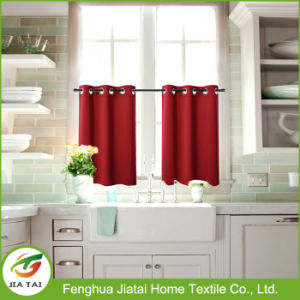 Window Drapes Modern Red Kitchen Curtains and Valances pictures & photos