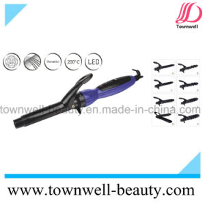 LED Digital Hair Curler 8 in 1 with Ceramic Coating Barrel pictures & photos