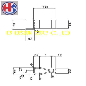 New Design Metal Spare Parts, Brass Contact Use for PCB (HS-MS-026) pictures & photos