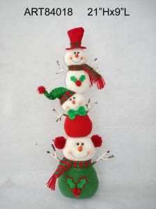 Holly Leaf Santa and Snowman Christmas Decoration Gift pictures & photos