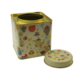 Rectangular Candy Tea Box Tin Box with Clear Window pictures & photos