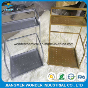 Corrosion Resisting Super Shiny Silver Gold Powder Coating for Iron Shelf pictures & photos
