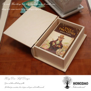 Hongdao Custom Simple Wooden Book Packaging Box with Factory Price Wholesale_L pictures & photos