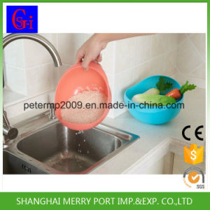 PP Material Rice Washing Drain Picnic Plastic Basket pictures & photos