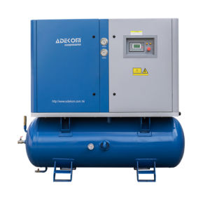 Portable Electric Oil-Lubricated Screw Tank Air Compressor (KB15-10/500) pictures & photos