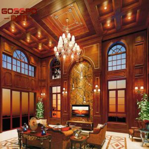 Villa Luxury Living Room Interior Wood Wall Panel (GSP11-007) pictures & photos