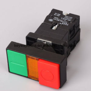 Square Illuminated Type Push Button Switch with Red/Green pictures & photos